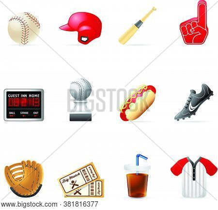 Set Of Baseball Club Emblem Design Elements. Vector Silhouette Collection Of Child Man Woman, Young