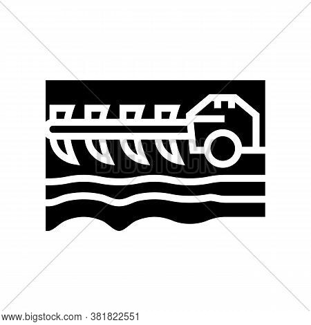 Agricultural Techincs Cultivator Glyph Icon Vector. Agricultural Techincs Cultivator Sign. Isolated