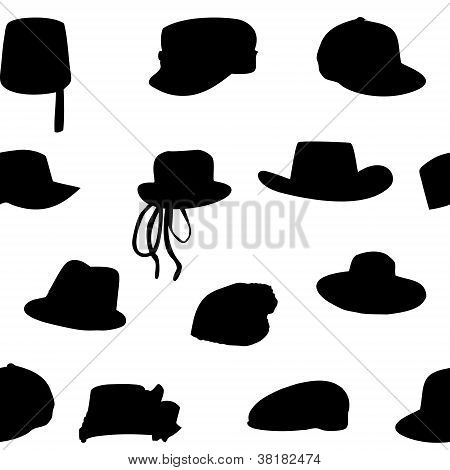 Wallets collection silhouette seamless pattern. Vector illustrat