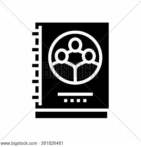 Company Statute For Employees Glyph Icon Vector. Company Statute For Employees Sign. Isolated Contou