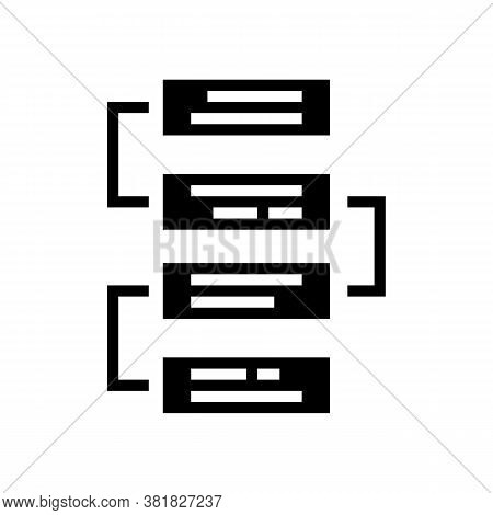 Job Working Steps And Tasks Glyph Icon Vector. Job Working Steps And Tasks Sign. Isolated Contour Sy