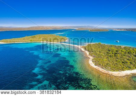 Amazing Exotic Islands With Natural Bridge In Turquoise Sea On The Island Of Dugi Otok In Croatia, D
