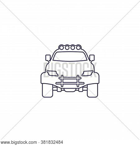 Off-road 4x4 Suv, Line Icon, Eps 10 File, Easy To Edit