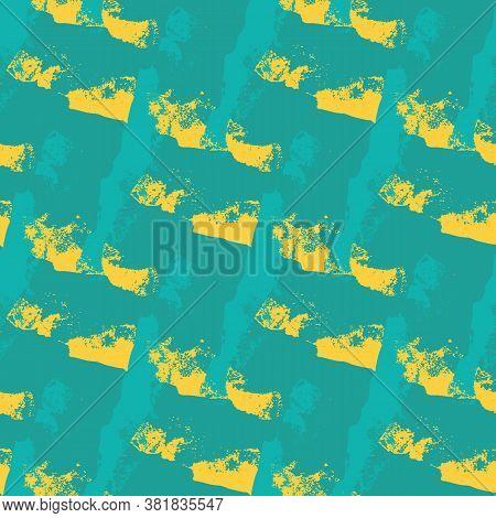 Vector Brush Stroke Flecked Weave Seamless Pattern Background. Coarse Painterly Diagonal Fibrous Sha