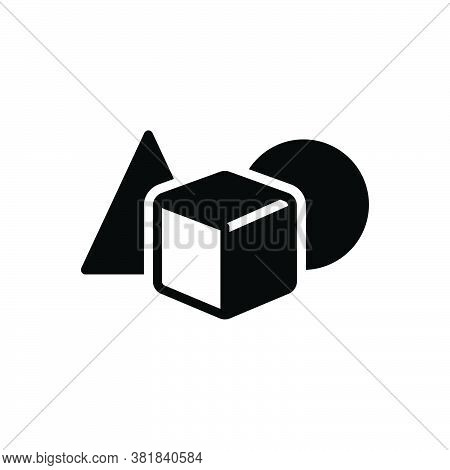 Black Solid Icon For Object Commodity Item Thing Shape Mathematical Substance Material Matter Stuff