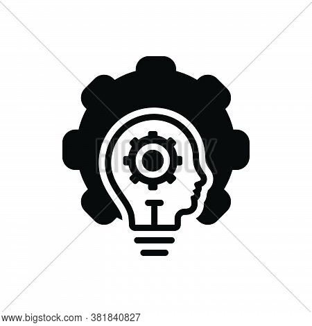 Black Solid Icon For Ability Caliber Potence Faculty Potentiality Talent Comprehension