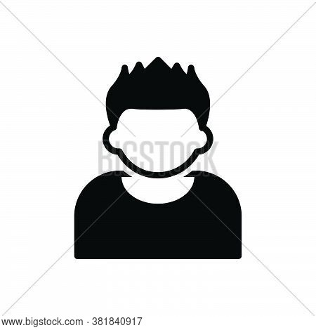 Black Solid Icon For Hair Skin Scalp Style Hormone Anatomy Hygiene Boy Model Hairstyle Short