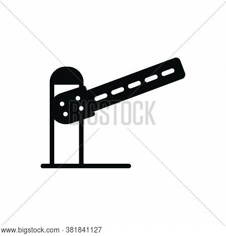Black Solid Icon For Barrier Hurdle Hindrance Inhibition Disallowance Boundary Check Post Transporta