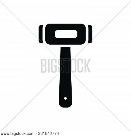 Black Solid Icon For Hammer Equipment Shattered Destroyed Damaged  Knocker Wallop Repair Tool Broker