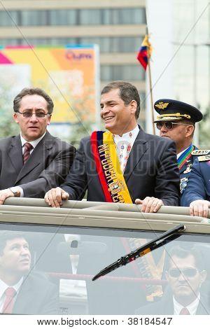 Quito, ECUADOR- MAY 24: National millitary parade