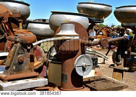 Outdated Obsolete Separators Used By Dairy Farmers To Remove Cream From The Milk.