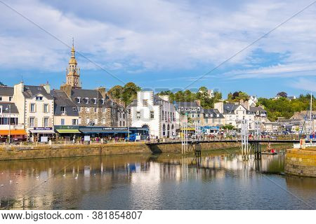 Binic-etables-sur-mer, France - August 24, 2019: Binic Is A Commune And Small Fishing Port At Seasid