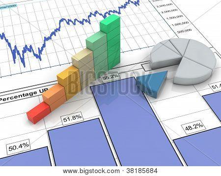 3D voortgangsbalk op financieel verslag