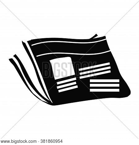 Newspaper Icon On White Background. News Symbol. Vector Illustration Of Newpaper Isolated On White.