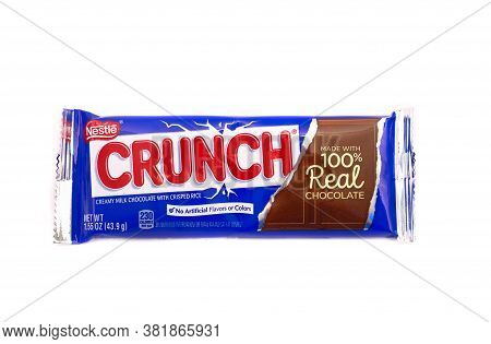 Nestle Crunch Chocolate Bar Isoloated On White For Illustrative Editorial