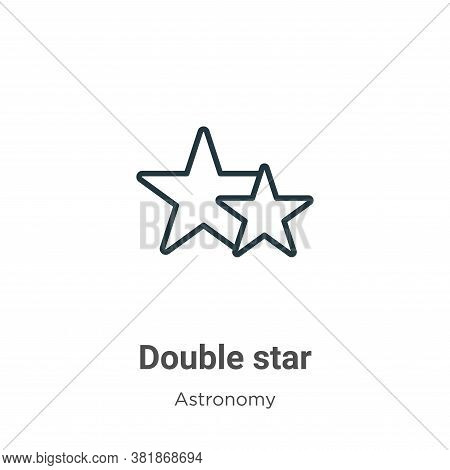 Double star icon isolated on white background from astronomy collection. Double star icon trendy and