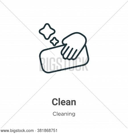 Clean icon isolated on white background from cleaning collection. Clean icon trendy and modern Clean