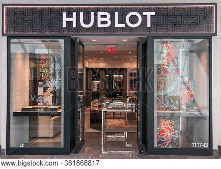 Scottsdale,Az/USA 9.9.2019:  Hublot is a Swiss luxury watchmaker founded in 1980 by Italian Carlo Crocco, it currently has 80 Boutiques all over the world.
