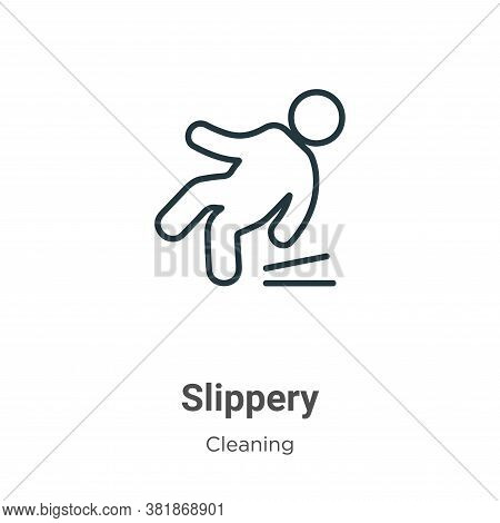 Slippery Icon From Cleaning Collection Isolated On White Background.