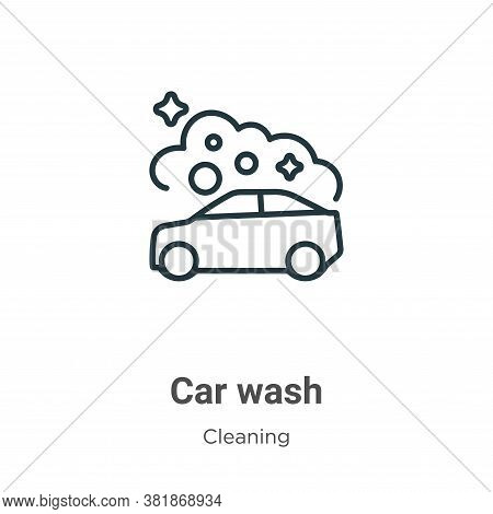 Car wash icon isolated on white background from cleaning collection. Car wash icon trendy and modern