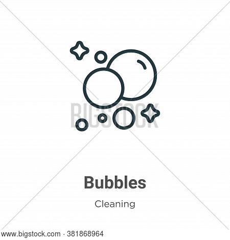 Bubbles icon isolated on white background from cleaning collection. Bubbles icon trendy and modern B