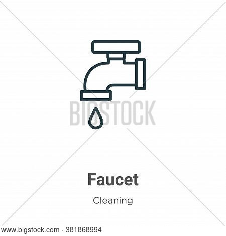 Faucet icon isolated on white background from cleaning collection. Faucet icon trendy and modern Fau