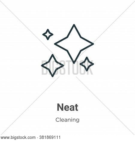 Neat icon isolated on white background from cleaning collection. Neat icon trendy and modern Neat sy