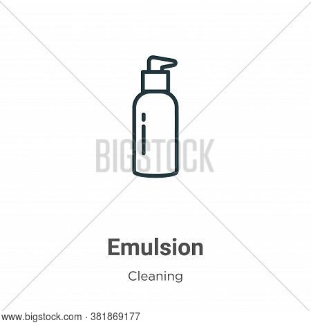 Emulsion icon isolated on white background from cleaning collection. Emulsion icon trendy and modern