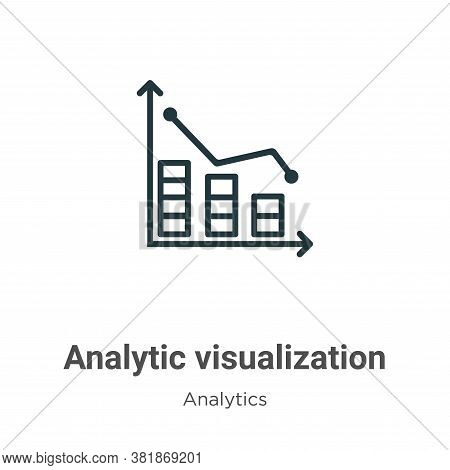 Analytic visualization icon isolated on white background from analytics collection. Analytic visuali