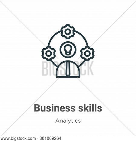 Business skills icon isolated on white background from business collection. Business skills icon tre