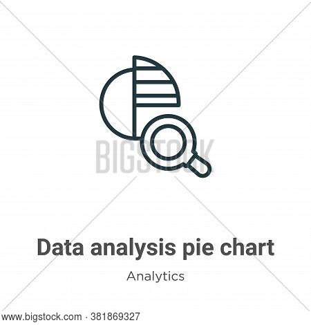 Data analysis pie chart icon isolated on white background from analytics collection. Data analysis p