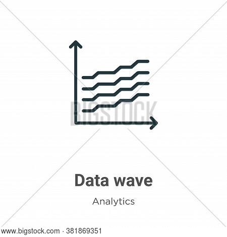 Data wave icon isolated on white background from analytics collection. Data wave icon trendy and mod