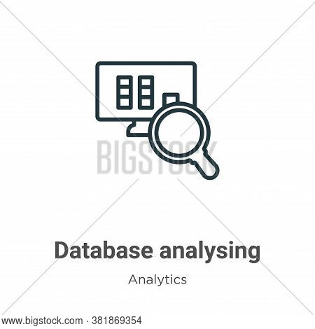 Database Analysing Icon From Analytics Collection Isolated On White Background.