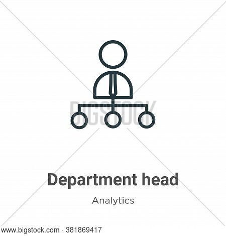 Department head icon isolated on white background from business collection. Department head icon tre