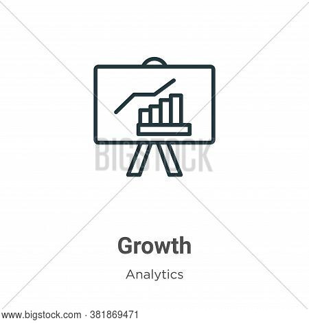 Growth icon isolated on white background from analytics collection. Growth icon trendy and modern Gr