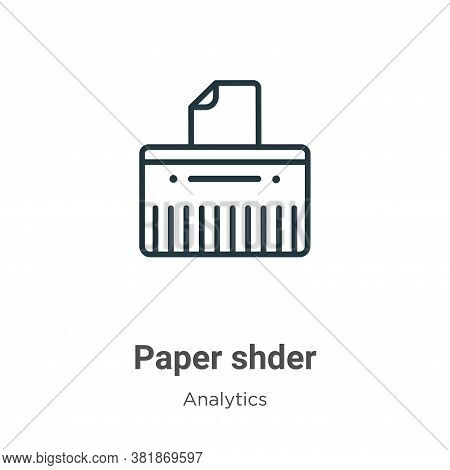 Paper shredder icon isolated on white background from business collection. Paper shredder icon trend