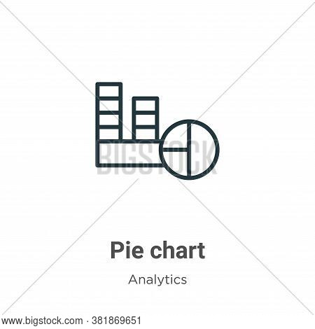 Pie chart icon isolated on white background from analytics collection. Pie chart icon trendy and mod