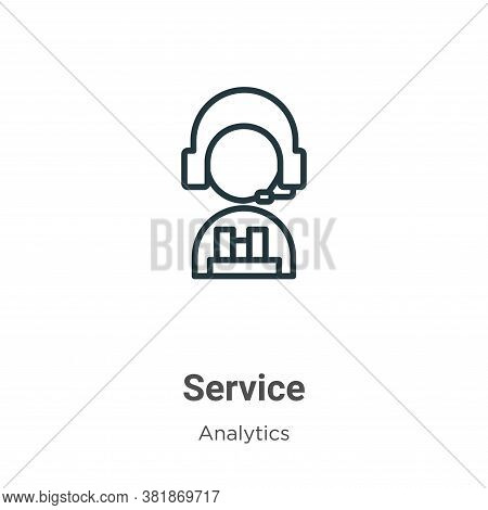 Service icon isolated on white background from business collection. Service icon trendy and modern S