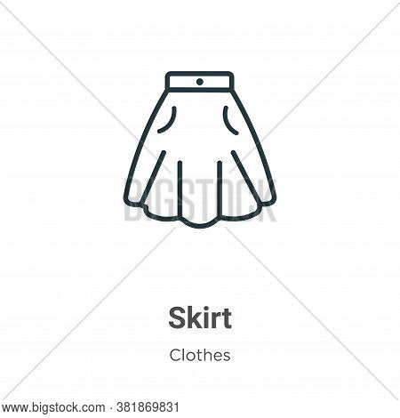 Skirt icon isolated on white background from clothes collection. Skirt icon trendy and modern Skirt