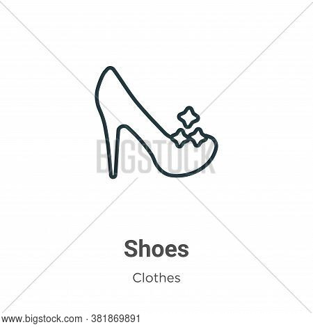 Shoes icon isolated on white background from clothes collection. Shoes icon trendy and modern Shoes