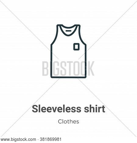 Sleeveless shirt icon isolated on white background from clothes collection. Sleeveless shirt icon tr
