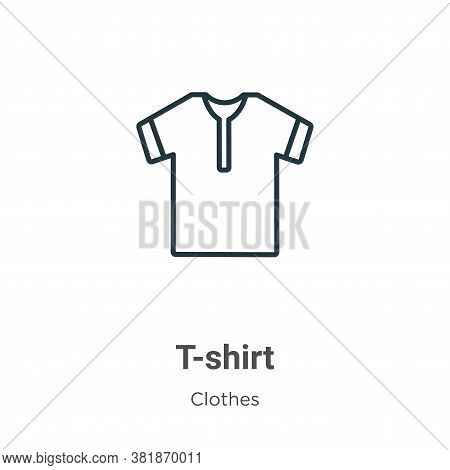 T-shirt icon isolated on white background from clothes collection. T-shirt icon trendy and modern T-