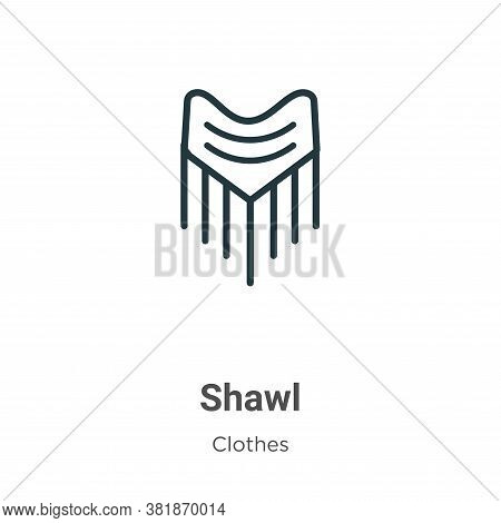 Shawl icon isolated on white background from clothes collection. Shawl icon trendy and modern Shawl
