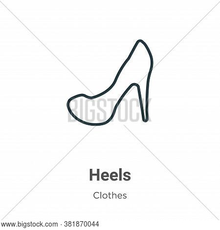Heels Icon From Clothes Collection Isolated On White Background.