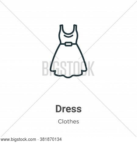 Dress icon isolated on white background from clothes collection. Dress icon trendy and modern Dress