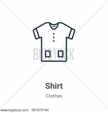 Shirt icon isolated on white background from clothes collection. Shirt icon trendy and modern Shirt
