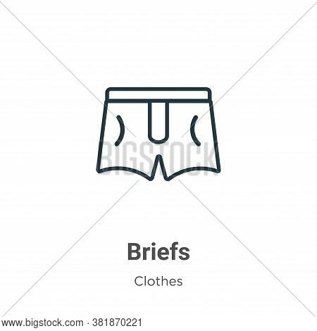 Briefs icon isolated on white background from  collection. Briefs icon trendy and modern Briefs symb