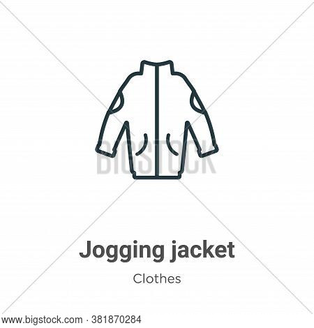 Jogging jacket icon isolated on white background from  collection. Jogging jacket icon trendy and mo