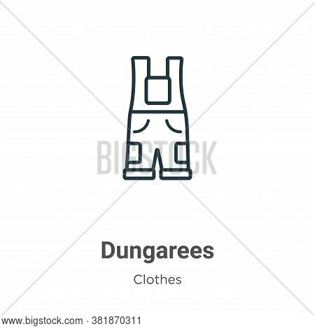 Dungarees icon isolated on white background from  collection. Dungarees icon trendy and modern Dunga