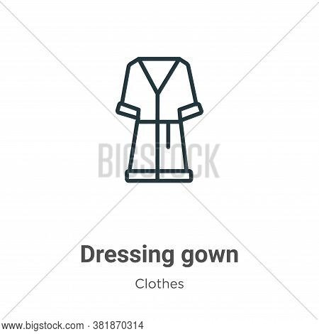 Dressing gown icon isolated on white background from  collection. Dressing gown icon trendy and mode